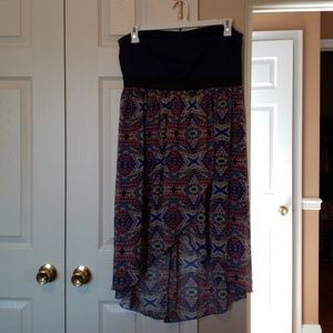Used high-low summer dress. Strapless.